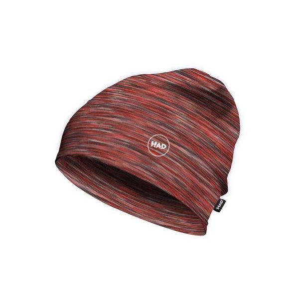 HAD Printed Fleece Beanie Multi Red